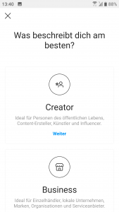 Instagram Business Profil Creator
