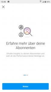 Instagram Business Profil: Insights von Abonnenten und Performance von Beiträgen