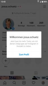 Instagram: Das neu eingerichtete Business Profil