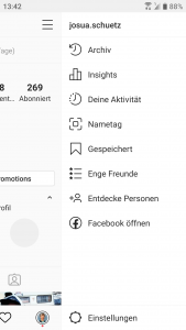 Instagram zu den Insights