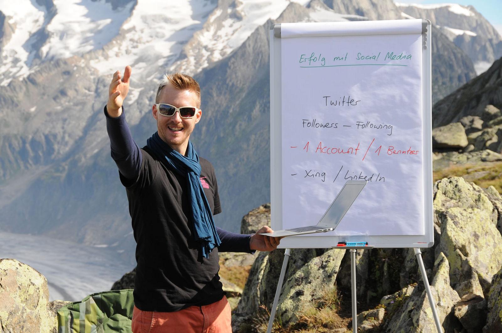 Unterricht beim Aletschgletscher