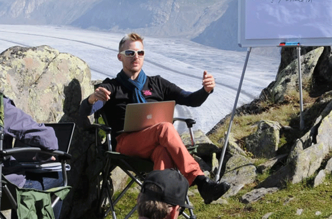 Digital in den Bergen sowie in der Stadt