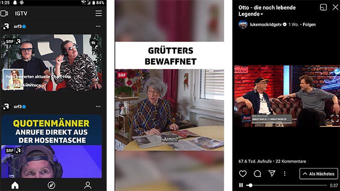 Instagram TV IGTV Beispiele
