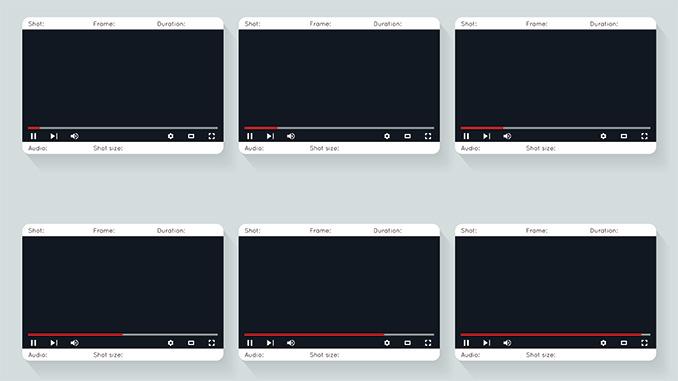 Social Media die Länge eines Videos