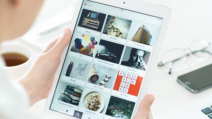 Social Media Instagram Tablet