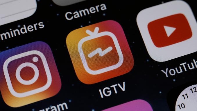 Social Media Netzwerk App IGTV