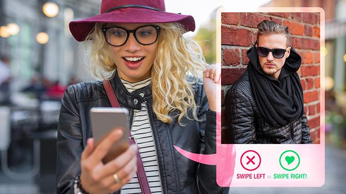 Social Media Tinder Dating App Swipe und weg