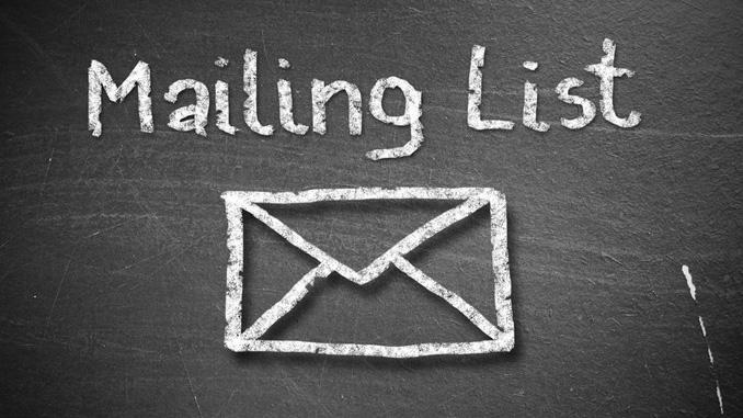 E-Mail Marketing Mailing List