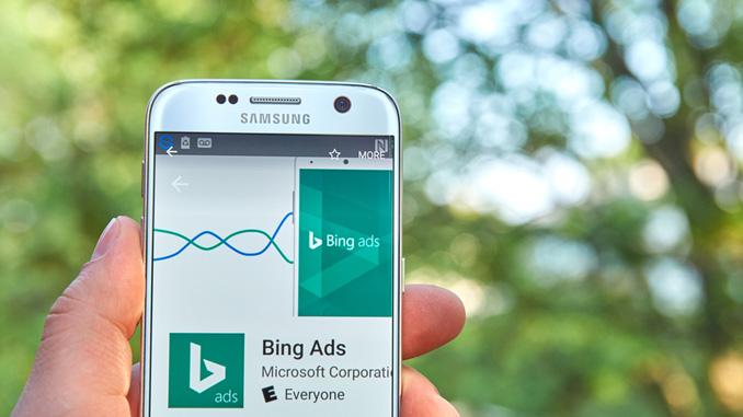 Online Marketing Bing Ads Interface