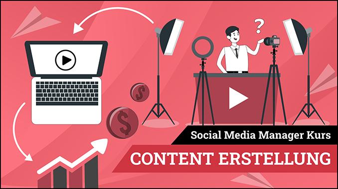 Social Media Manager Kurs Modul Content Erstellung