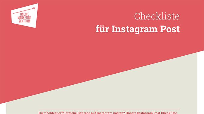 Checkliste für Instagram Post (Preview)