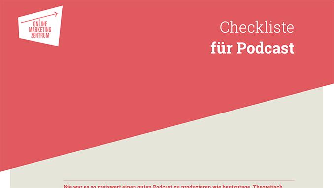 Checkliste für Podcast (Preview)