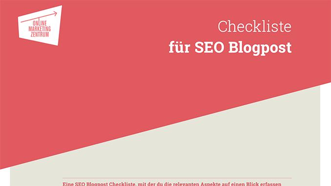 Checkliste für SEO Blogpost (Preview)